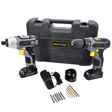 powerful  cordless drill driver impact wrench set