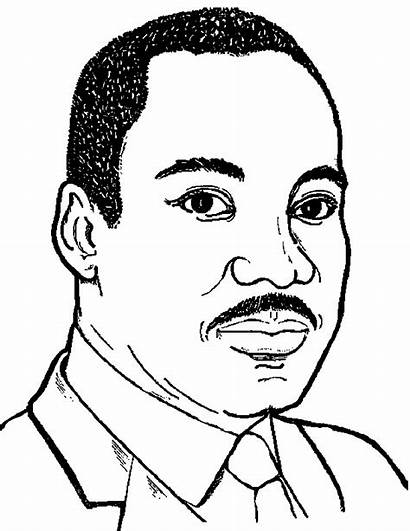 Coloring Luther Martin King Pages Jr Clip