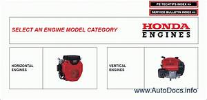 Honda Engines Repair Manual Order  U0026 Download