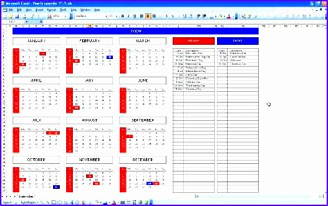 birthday calendar template excel exceltemplates
