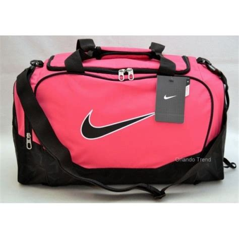 nike brasilia 5 small pink duffel bag for travel or
