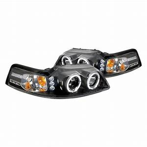 Spec-D® - Ford Mustang 2003 Black Dual Halo Projector LED Headlights