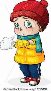 EPS Vectors of A Caucasian baby feeling cold ...