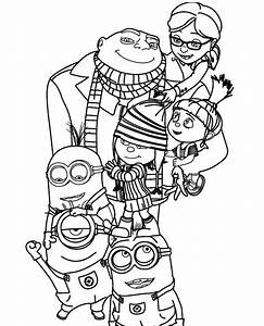 Despicable Me 2 Family Coloring Page | Kaylin//:)% | Pinterest