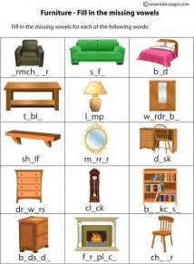 house worksheets furniture fill in worksheet home index