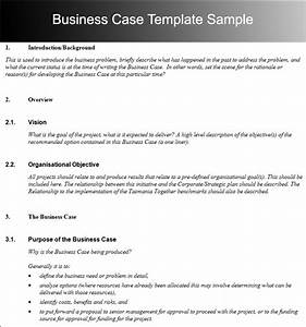 writing business cases template business case template With writing business cases template