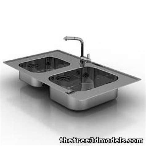 kitchen sink models sink free 3d model 3ds sldprt free3d 2791