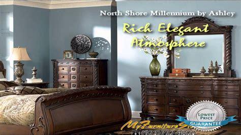 north shore sleigh bedroom   ashley myfurniturestore