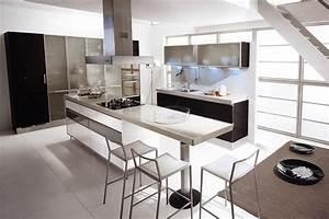 30 black and white kitchen design ideas digsdigs With black and white kitchen decor