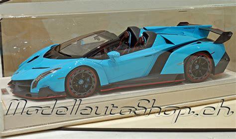 modellauto shop lamborghini veneno roadster light blue   kaufen
