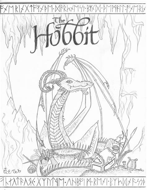 printable  hobbit coloring pages