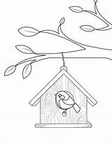 Coloring Birdhouse Pages Printable Bird Birds Colouring Little Museprintables Patterns Birdhouses Print Printables Templates Embroidery Pdf Applique Houses Drawings Template sketch template
