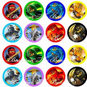Ninjago Stickers, Ninjago Cupcake Toppers,Birthday Party