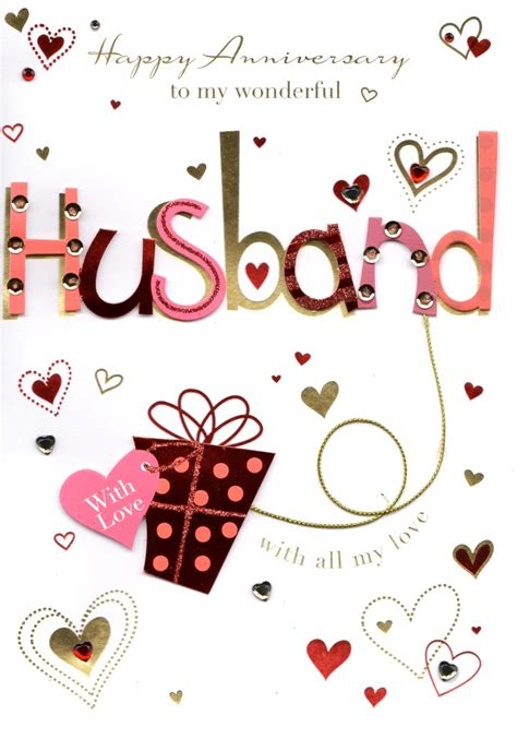 wonderful husband happy anniversary greeting card cards love kates