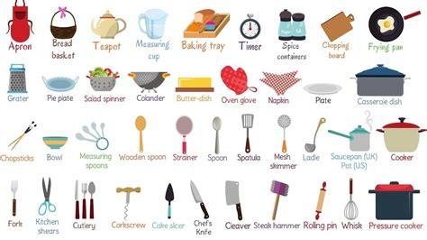Kitchen Vocabulary by Kitchen Utensils Vocabulary In Ismanusis