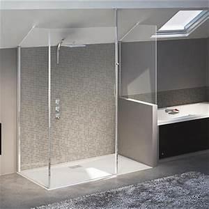 porte de douche coulissante espace aubade With porte de douche coulissante avec meuble salle de bain grohe