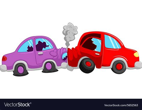 Cartoon Car Accident Royalty Free Vector Image