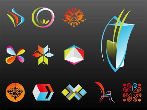 abstract logo templates vector graphics freevector