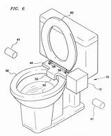 Toilet Bowl Drawing Seat Lift Getdrawings Patent Patents Step sketch template