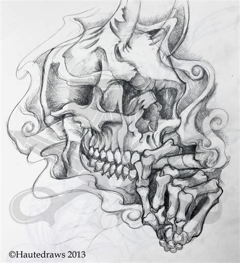 devil skull hautedraws