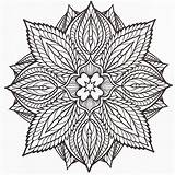 Coloring Adult Mandala Mandalas Tattoo Kleurplaten Pages Crazy Designs Woodburn sketch template