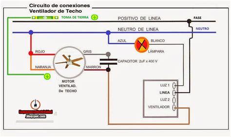 esquemas el 233 ctricos conexion ventilador techo xcxcxcxc esquemas electricos electricidad