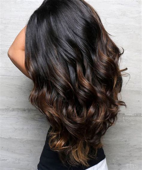 balayage schwarz braun top balayage f 252 r dunkle haare schwarz und dunkelbraun haar balayage farbe trend haar modelle