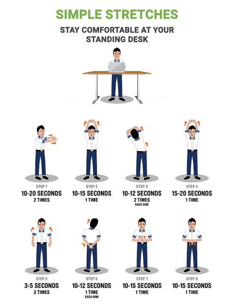 stand up desk exercises standing desk simple stretches multitable com