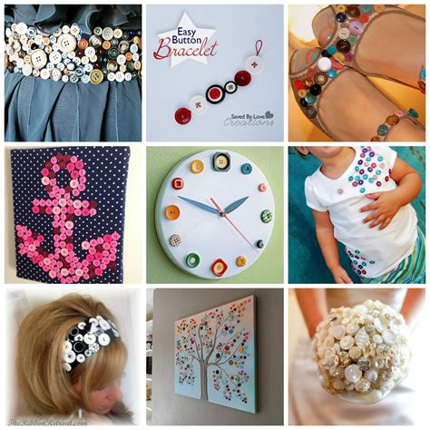 button crafts ideas buttonscollage diy for 1195