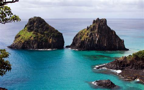 Two Huge Rocks In Fernando-de-noronha Archipelago, Brasil