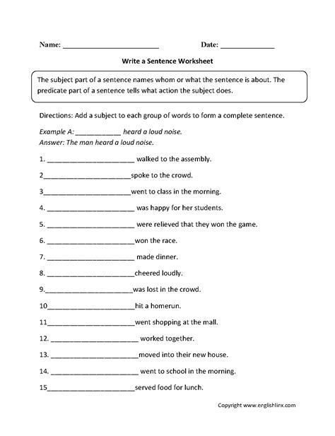 19 best images of sentence variety worksheet 1st grade