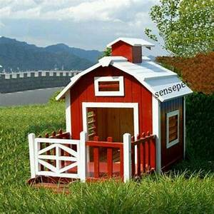 Dog house red barn dogs pinterest pets red barns for Red barn dog kennel