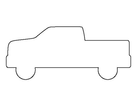 pickup truck pattern   printable outline  crafts