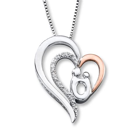 Kay - Mother/Child Necklace Diamond Accents Sterling