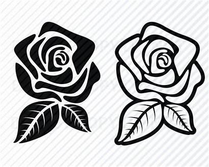 Svg Cricut Rose Flower Flowers Clipart Swag