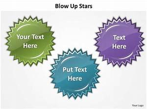 Blow Up Stars Highlight Showing Features Powerpoint