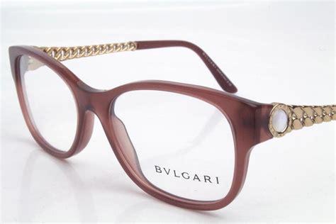 Bvlgari 4081h Eyeglasses Frames Opal Brown Red Rose Gold