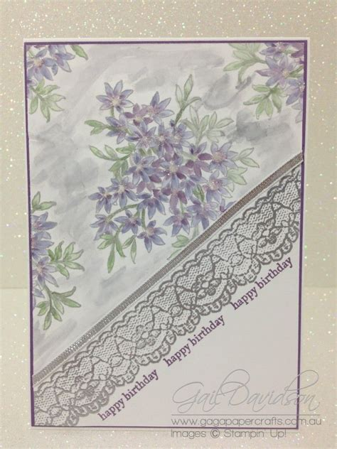sparkly birthday  embossed lace trim  gdp