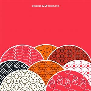 Background with patterns in japanese style Vector | Free ...