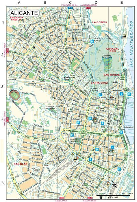 mapas detallados de alicante  descargar gratis  imprimir
