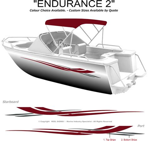 Boat Name Graphics Canada by Boat Graphics Decal Sticker Kit Quot Endurance 2 1800 Quot Marine