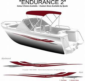 boat graphics decal sticker kit quotendurance 2 1800quot marine With marine decals and lettering