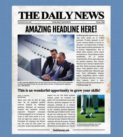 4 Page Newspaper Template Microsoft Word 8.5x11 inch For ...