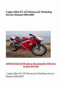 Cagiva Mito Ev 125 Motorcycle Workshop Service Manual 1994