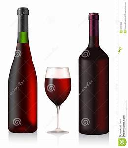 Two Bottles And Glass With Red Wine Stock Images - Image ...