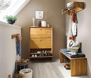 Massivholz Garderoben Set Dielenmbel 4teilig Wildeiche