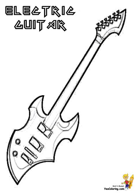 gritty guitar coloring  electric guitar instrument coloring