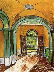 The Entrance Hall Of Saint-paul Hospital  1889