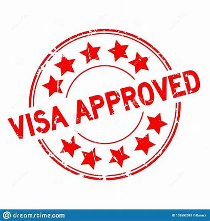 Icon Visa Approved Stamp Round Star Rubber