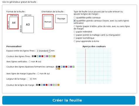 Créez un pdf avec n'importe quelle. Générateur de feuilles   Feuille, Papier millimétré, Types ...